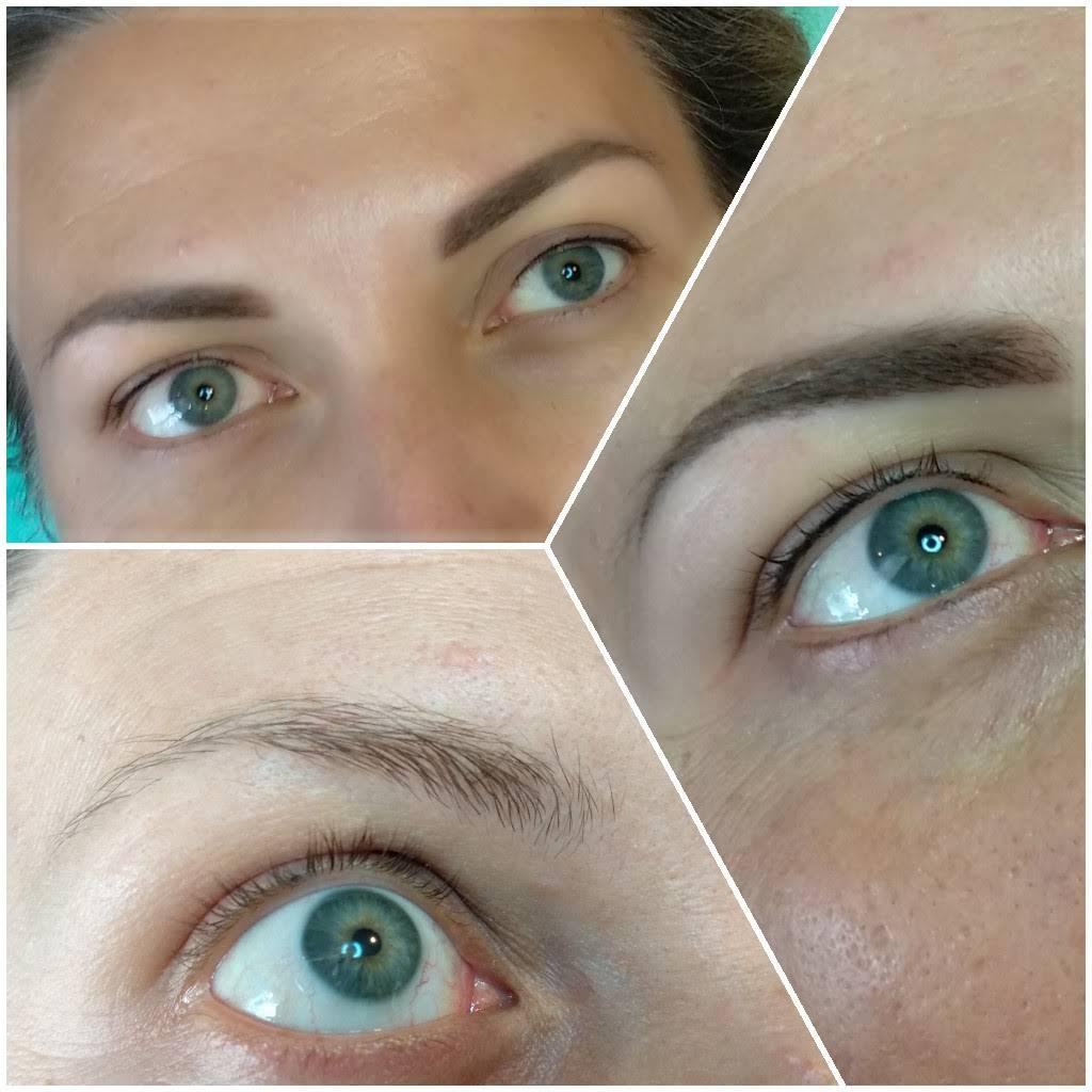 Makijaż permanentny brwi i kreski na powiece 1 zabieg